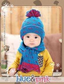 Bộ khăn mũ len giữ ấm cho trẻ ME005