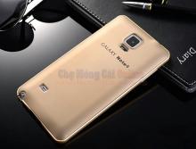 Ốp lưng da viền kim loại dành cho Samsung Galaxy Note 4