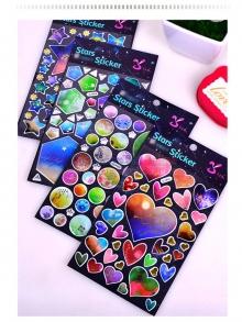 Phụ kiện sticker hình sao và trái tim