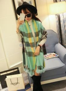 Khăn choàng họa tiết kẻ phong cách Hàn Quốc KMD009