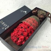 Hoa hồng sáp hộp 33 bông HQ020