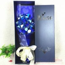 Hoa hồng sáp hộp 21 bông HQ027