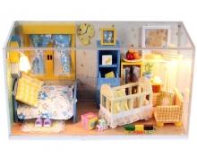 Mô hình nhà DIY - Phòng ngủ happy
