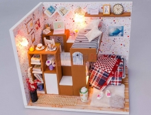 Mô hình nhà DIY - Phòng ngủ đôi xinh xắn